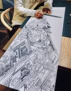 「ウォーリーがいそう」「シムシティ思い出す」中学1年生の時に描いた壮大すぎる空想都市に反響「当時の自分を素直に尊敬できる」