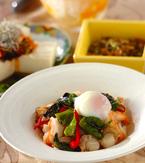 今日の献立は「魚介のバジル炒めライス」 E・レシピ