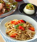 今日の献立は「キノコのスパゲティー」 E・レシピ