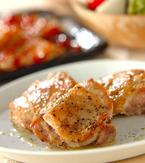 今日の献立は「こんがり鶏肉の黒コショウ焼き」 E・レシピ