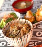 今日の献立は「キノコ炊き込みご飯」 E・レシピ
