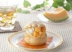 夕張メロンの果肉がゴロっと入った「プレミアム夕張メロンのシュークリーム」が登場!