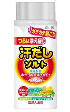 海塩と海藻エキス配合の薬用入浴剤 「汗だしソルト」が登場