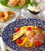 今日の献立は「焼き野菜の冷製パスタ」 E・レシピ