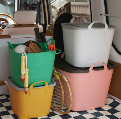 収納にもアウトドアにも便利、フランス製の角型バケツ「baquet」が発売開始