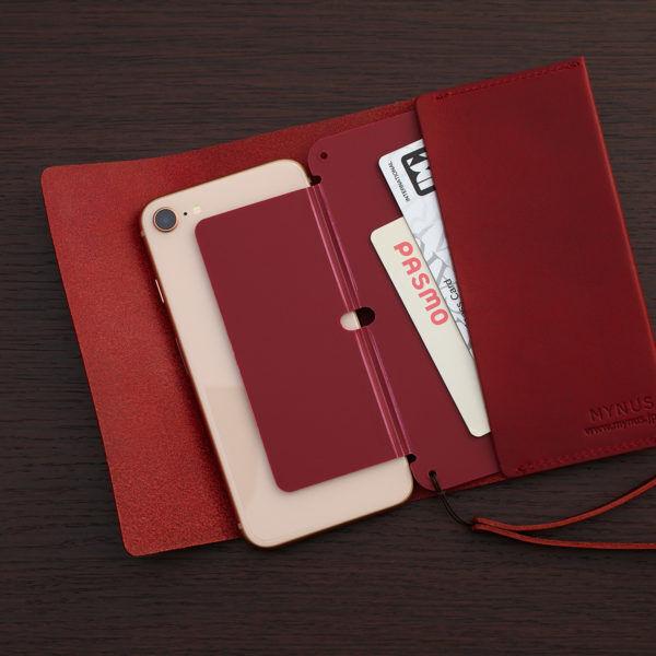 デキる大人女子ならMYNUSのiPhoneケース!真紅の栃木レザーで贅沢な作り