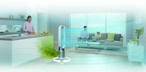 """『ダイソン』の""""室内空気を徹底的にきれいにする""""ただひとつの空気清浄ファンって一体どんなもの?"""