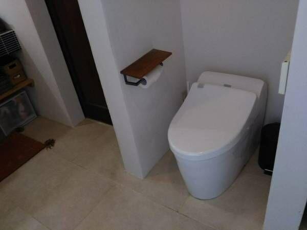 トイレにも扉が無い?!壁や仕切りを極力少なくした自由空間作り。【こんにちはD.I.Y、そしてこれからも 前編】