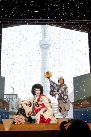 スカイツリーと桜吹雪に大歓声! 平成中村座『四月大歌舞伎』が開幕