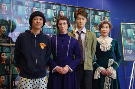 (画像左から)河原雅彦、秋元才加、入江甚儀、前田美波里