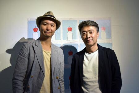 左から、長塚圭史、池田成志