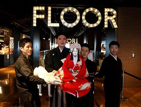 写真左から、吉田玉彦、吉田幸助、吉田簑之、桐竹紋吉