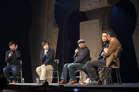 トークイベントより。左から、岡田達也、多田直人、内田けんじ、久保田秀敏、成井豊