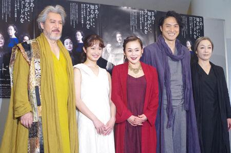左から、今井清隆、門脇麦、大竹しのぶ、平岳大、キムラ緑子