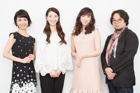 左から、妃海風、春野寿美礼、紫吹淳、藤沢文翁撮影:石阪大輔