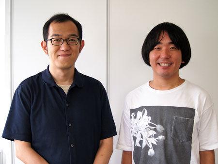 左から、上田誠、本多力