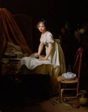 ルイ=レオポルド・ボワイ―《アイロンをかける若い女性》1800年頃Charles H. Bayley Picture and Painting Fund 1983.10