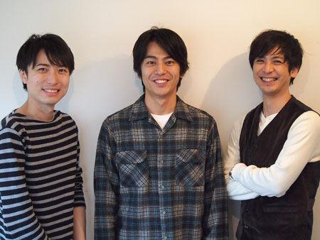 左から、中屋敷法仁、牧田哲也、平田裕一郎