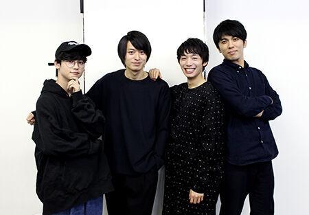 (写真左より)ゆうたろう、高本学、大原海輝、山崎彬
