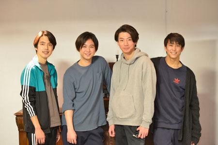 左から、小川ゲン、柳下大、矢崎広、佐野岳撮影:源賀津己