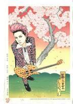 X JAPANのhideが浮世絵木版画に!