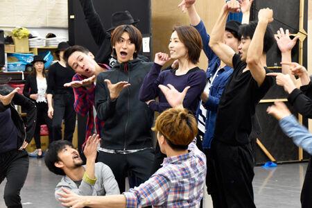ミュージカル『ウーマン・オブ・ザ・イヤー』 公開稽古より 撮影:河野桃子