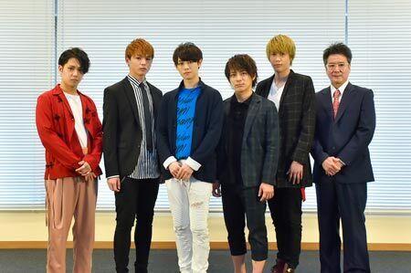 (左から)SHUN(Beat Buddy Boi)、加藤良輔、カラム、米原幸佑、碕理人、錦織一清 (C)2018CLIE/G7 カメラマン:鏡田伸幸
