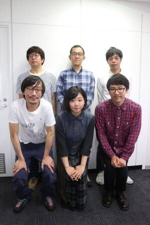 (左下から)中川晴樹、藤谷理子、酒井善史 (左上から)諏訪雅、上田誠、石田剛太