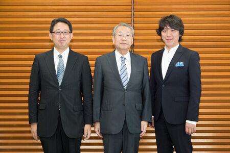 二期会記者会見 (左から山口毅、韮澤弘志、宮本益光) 撮影 最上梨沙