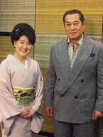 夫婦役の松平健、川中美幸がそろって取材会を開催!