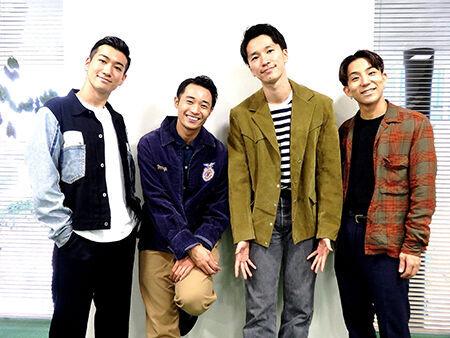 写真は左からOguri、shoji、NOPPO、kazuki