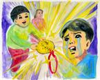 五月女ケイ子の展示会で『金メダル男』の挿画が初公開