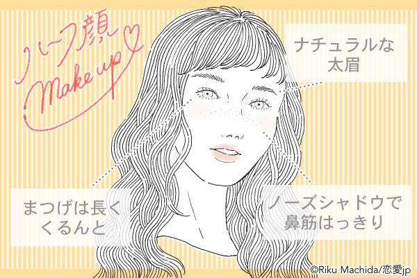 【2018トレンド】「ハーフ顔メイク」のやり方と男のホンネを紹介!