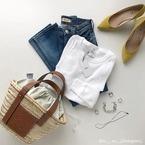 """【夏が来るまでに知っておくべき!】定番の""""白Tシャツ""""を使った「着まわし術」"""