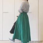 なんか雰囲気変わったね♡旬のカラーグリーンを取り入れた「今っぽコーデ」