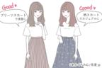 可愛いが止まらない♡男ウケ最強の「ロングスカート」で作るモテコーデ