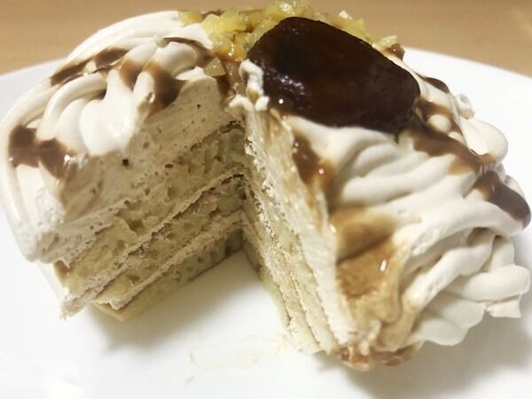 【ローソンスイーツ】栗好き必見♡「モンブランパンケーキ」がボリューミー!