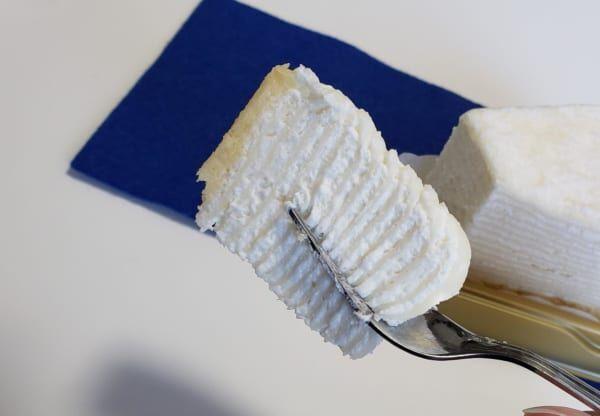 kiriのクリームチーズが幸せ…!「レアチーズミルクレープ」を食べてみた♡