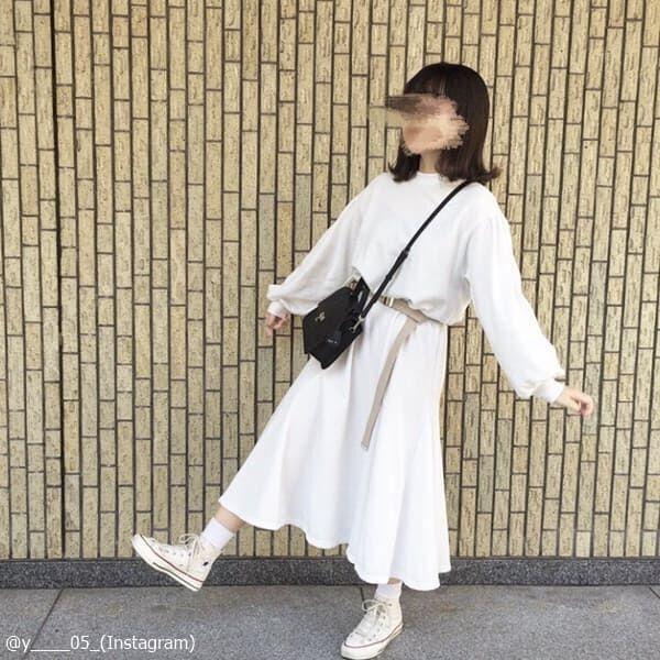 上手く隠してスタイルキープ♡大きめワンピの「華奢見えコーデ」4つ
