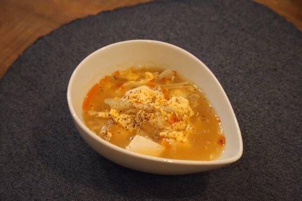 【食べるスープレシピ】ポカポカあったまる♡「辛酸っぱい酸辣湯スープ」