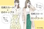 見つけたら即買い!春まで使える【GU】の花柄スカート!