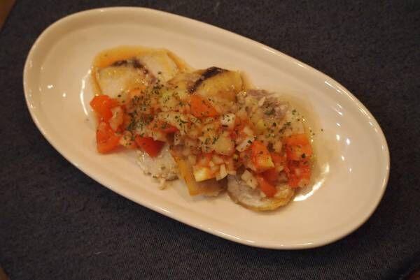 【簡単レシピ】野菜のソースで美味しい♡「メカジキのトマトオニオンソース」