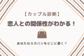 """【カップル診断】恋人との食事で""""カバンをどこに置くか""""で分かる「恋人との関係性!」"""