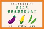【クイズ】次の中で、緑黄色野菜はどれでしょう?