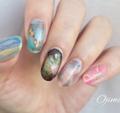 大人カワイイ♡指先から上品を作る「天然石風ネイル」4選