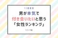 【12星座別】男性が「本気で付き合いたいと思う」女性ランキング(12位~9位)