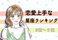 【12星座別】恋愛上手な星座ランキング (8位~5位)