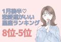 1月の後半「恋愛運がいい」星座ランキング(8~5位)
