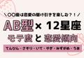 12星座×AB型のモテ度と恋愛傾向<後編>
