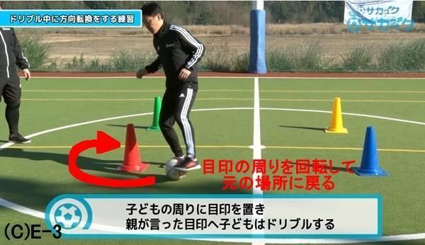 【初心者向け】ドリブルしながら方向転換できるようになる練習|サッカー3分間トレーニング